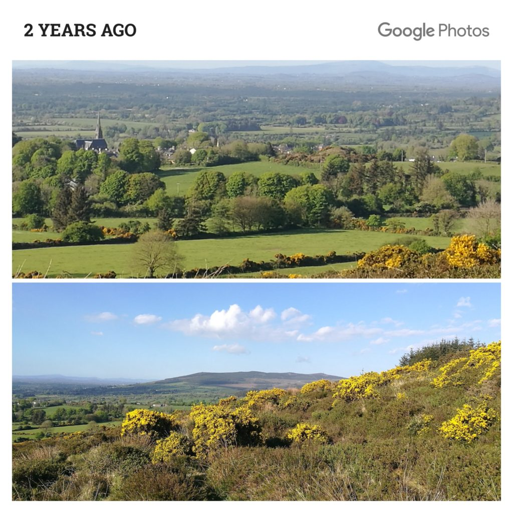 Image of Kilfinane taken 2 years ago from hill behind my house
